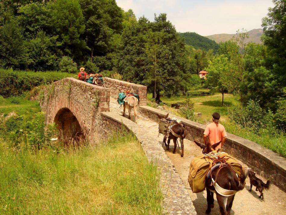 Steinbrücke in Lamanere - Burrotrek