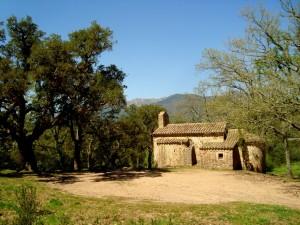 Kapelle auf Eselwanderung in Spanien