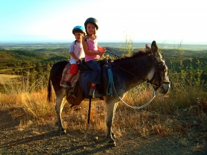 Panorama Wanderung Esel-Wanderung für Kinder und Familien in Katalonien