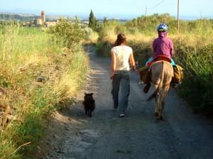 Espolla auf Eselwanderung