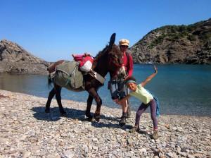 Eseltour am Mittelmeer